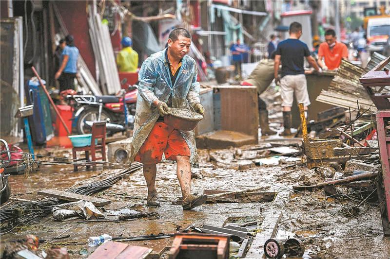洪灾过后重建家园